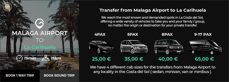 Transfer from Malaga Airport to La Carihuela