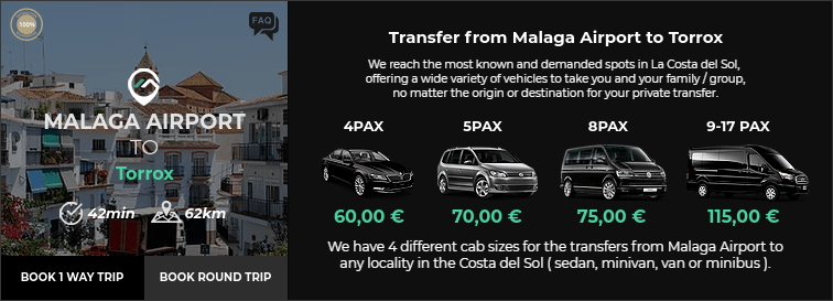 Transfer from Malaga Airport to Torrox