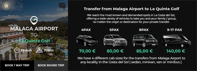 Transfer from Malaga Airport to La Quinta Golf