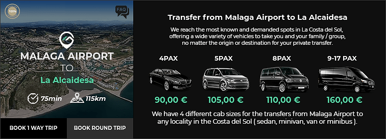 Transfer from Malaga Airport to La Alcaidesa