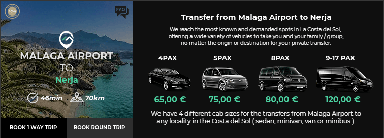 Transfer from Malaga Airport to Nerja