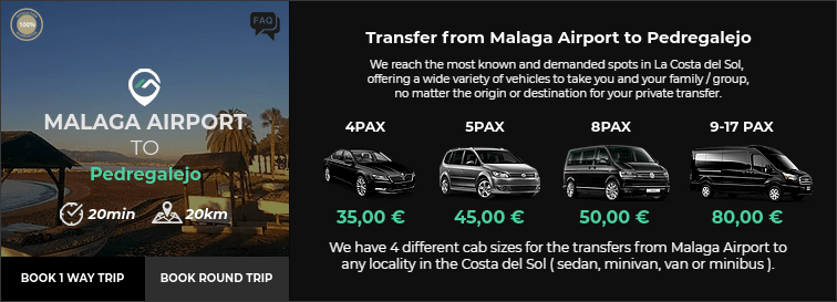 Transfer from Malaga Airport to Pedregalejo