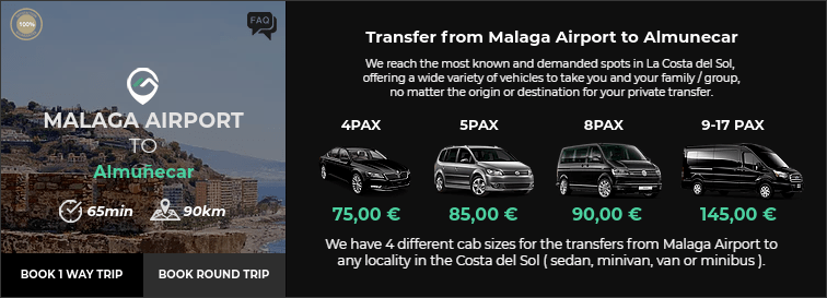 Transfer from Malaga Airport to Almuñecar