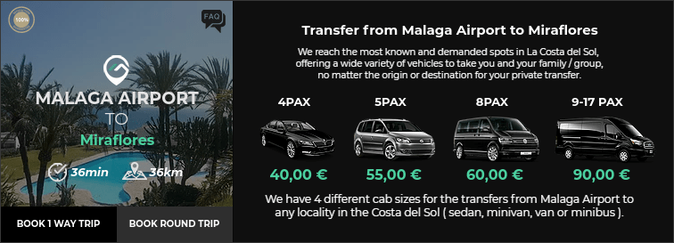 Transfer from Malaga Airport to Miraflores