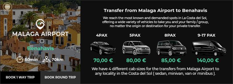 Transfer from Malaga Airport to San Pedro de Benahavis