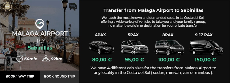 Transfer from Malaga Airport to Sabinillas