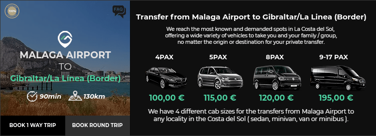 Transfer from Malaga Airport to Gibraltar,La Linea