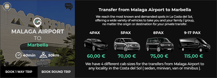 Transfer from Malaga Airport to Marbella