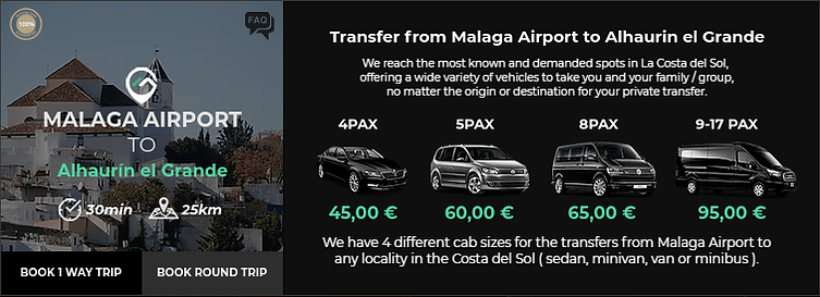 Transfer from Malaga Airport to Alhaurin El Grande