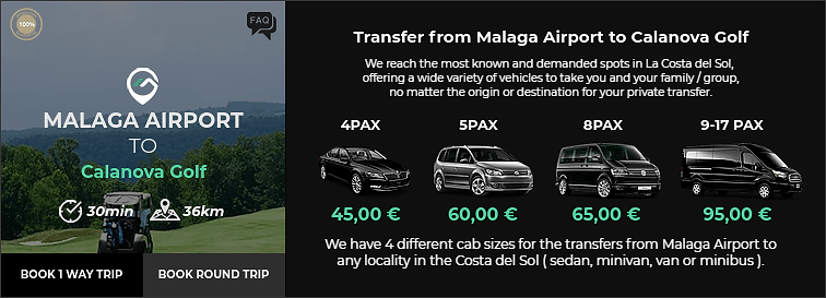 Transfer from Malaga Airport to Calanova Golf