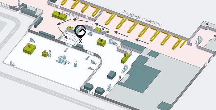 Mapa Aeropuerto Málaga
