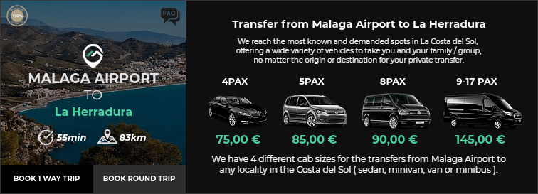 Transfer from Malaga Airport to La Herradura