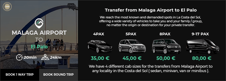 Transfer from Malaga Airport to El Palo