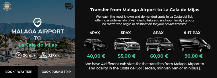 Transfer from Malaga Airport to La Cala de Mijas