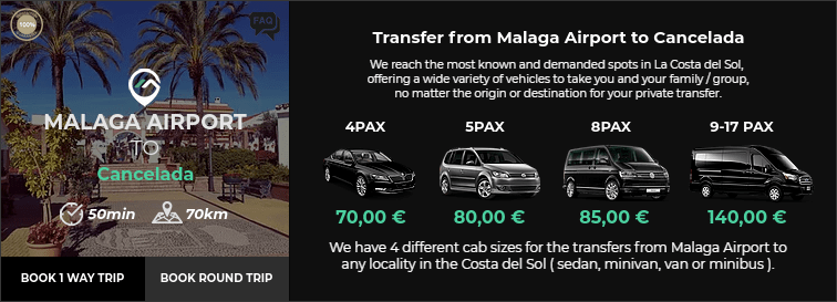 Transfer from Malaga Airport to Cancelada