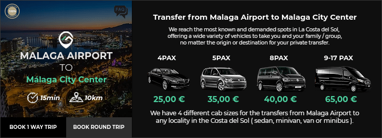 Transfer from Malaga Airport to Malaga City Center