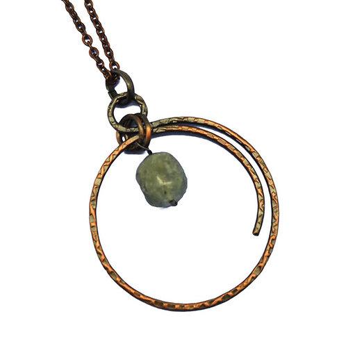 Prehnite Globe Necklace