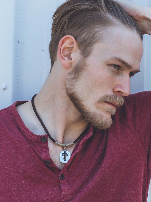 Cross & Dog Tag Necklace
