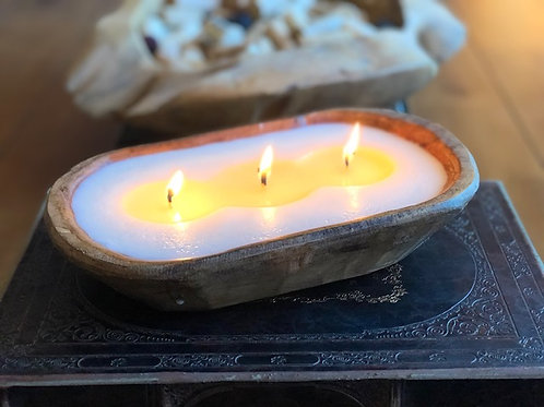 3 WICK DOUGH BOWL CANDLE