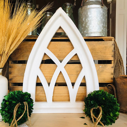CATHEDRAL WOODEN WINDOW ARCH