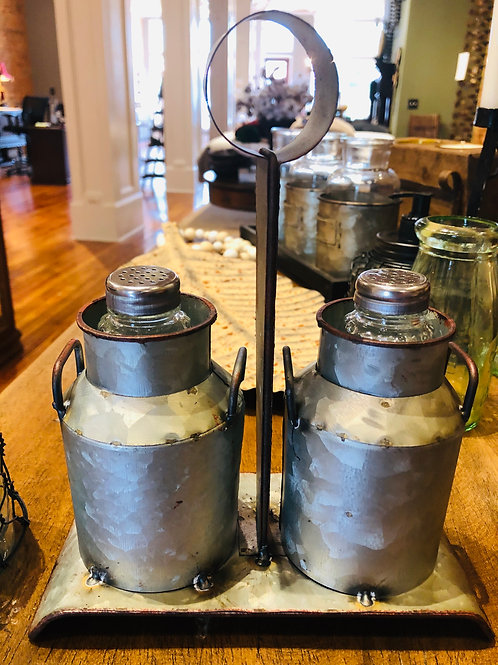 Rustic Metal Salt/Pepper Caddy
