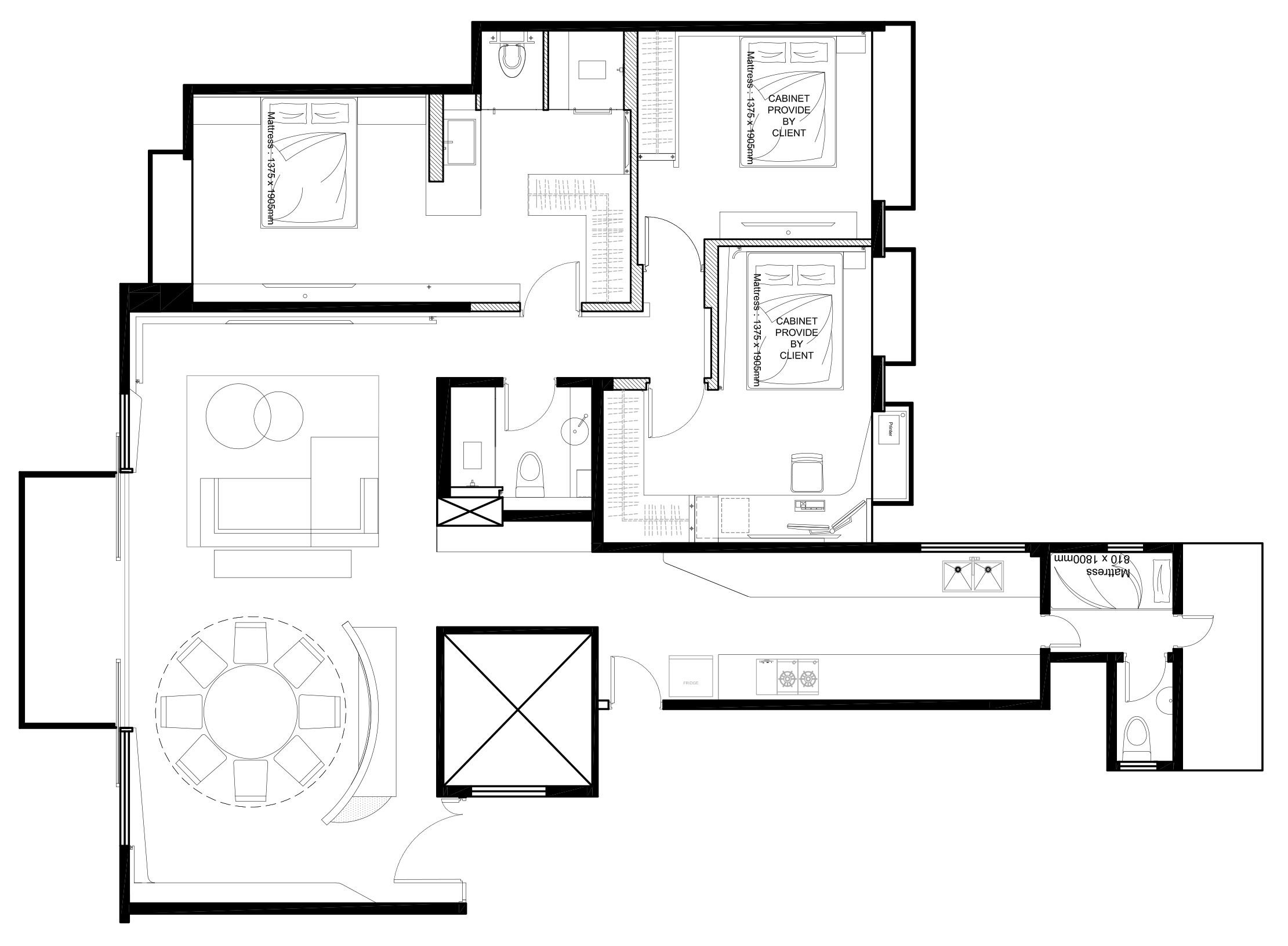 家居設計 雪白分層 Layers of Snow Apartment (2)