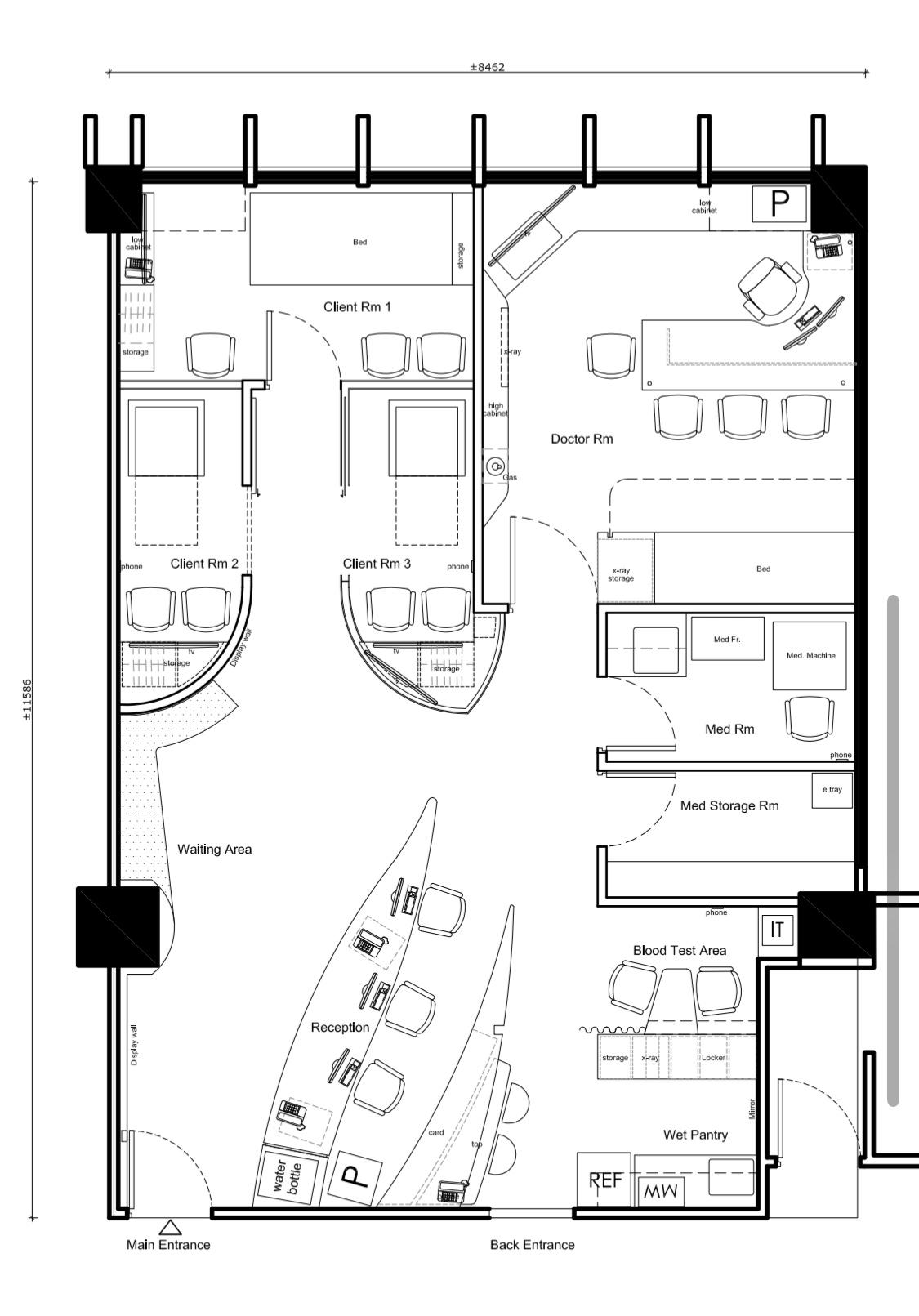 Cancer clinic floor plan