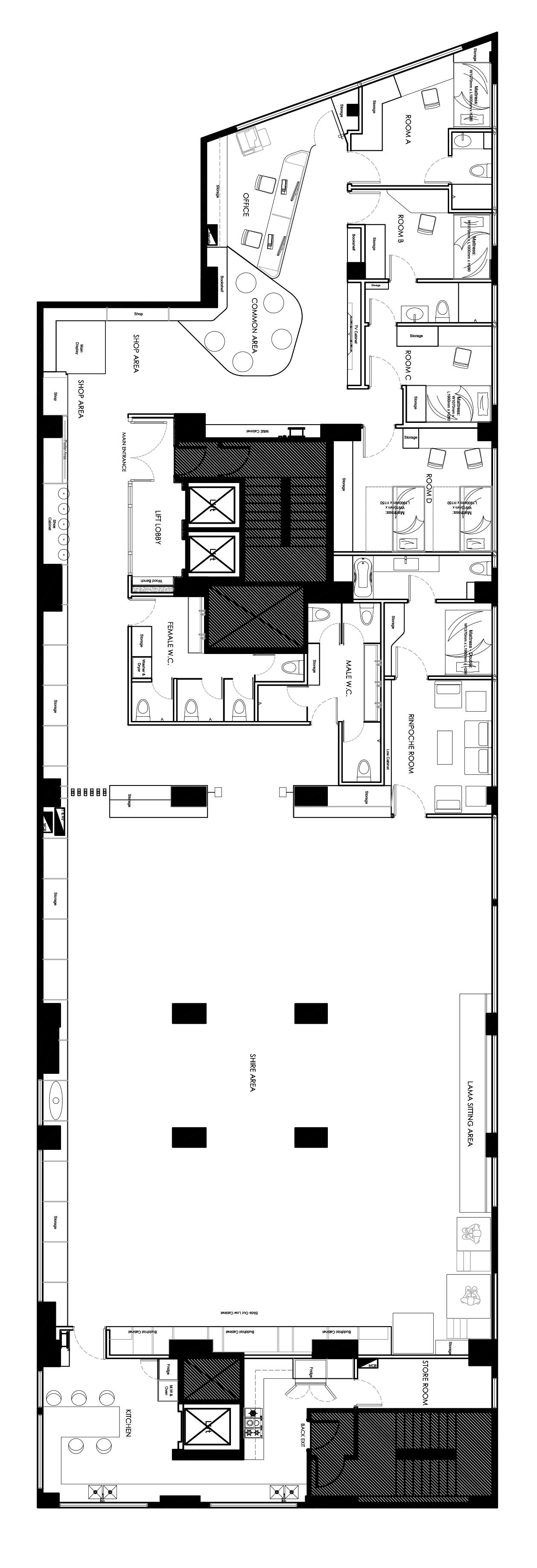 佛教中心設計Buddhist Center Design Karma Kagyu HK  (10)