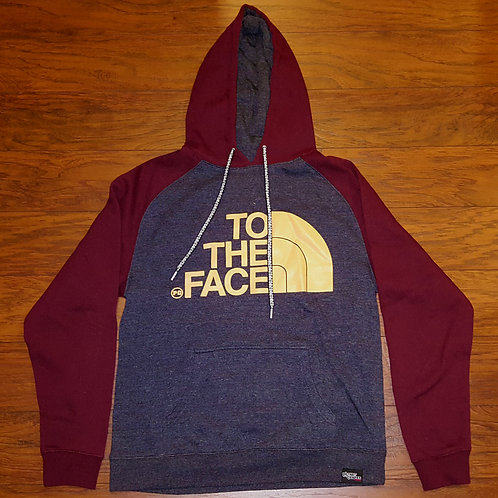 Pullover TO THE FACE - Burgundy/Charcoal w/ Cream