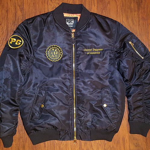 Bomber Jacket TRAPPERS - Black and Gold