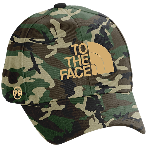 Dad Hat TO THE FACE - Camo w/ Cream