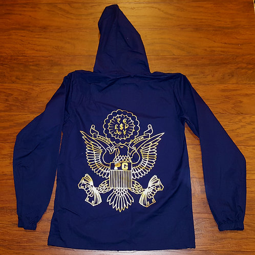 Rain Jacket TRAPPERS - Navy and Gold