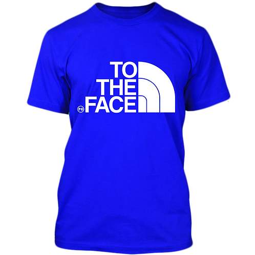 TO THE FACE - Royal Blue w/ White