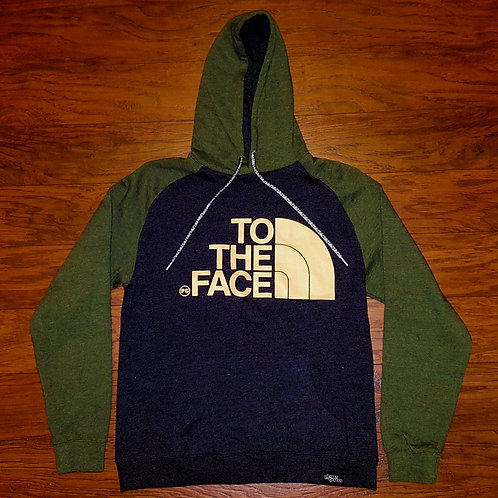 Pullover TO THE FACE - Army/Charcoal w/ Cream