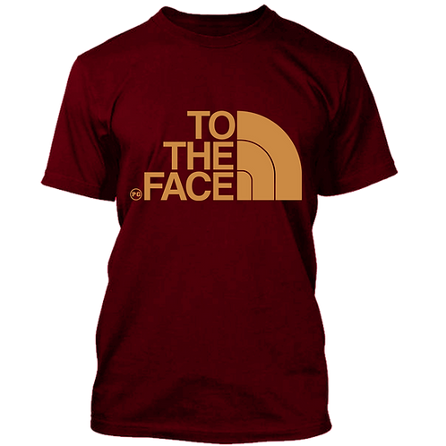 TO THE FACE - Burgundy w/ Cream