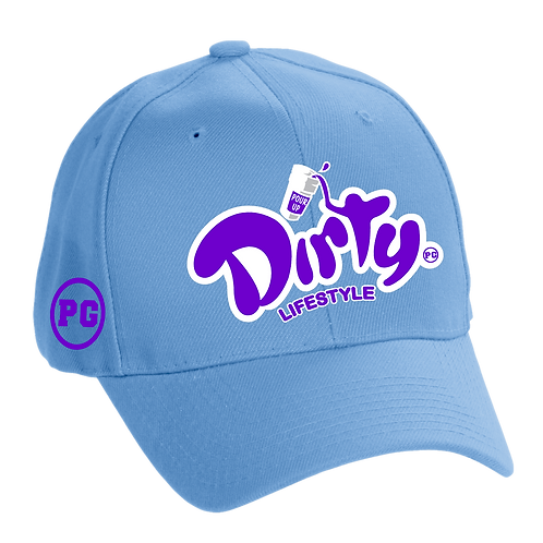 Dad Hat DIRTY - Carolina w/ Purple