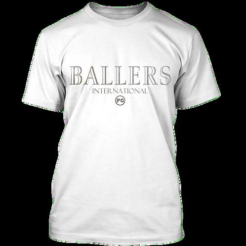 BALLERS - White w/ Silver Metallic