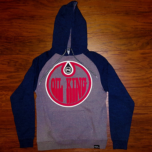 Pullover OIL KING - Navy/Gray w/ Red