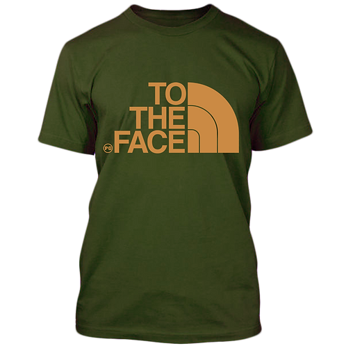 TO THE FACE - Military Green w/ Cream