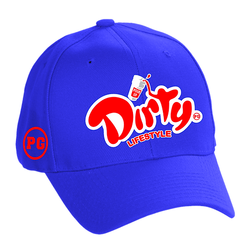 Dad Hat DIRTY - Royal w/ Red