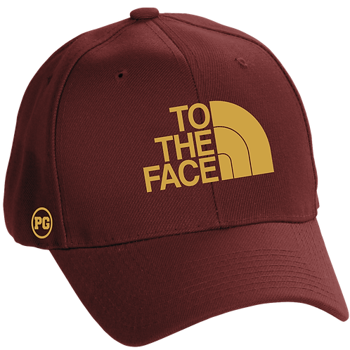 Dad Hat TO THE FACE - Burgundy w/ Cream