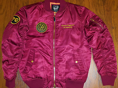 Bomber Jacket TRAPPERS - Burgundy and Gold