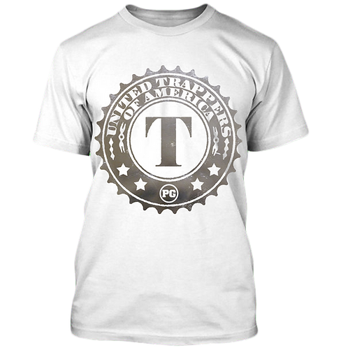 TRAPPERS - White w/ Silver Metallic