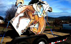 horse and trailer