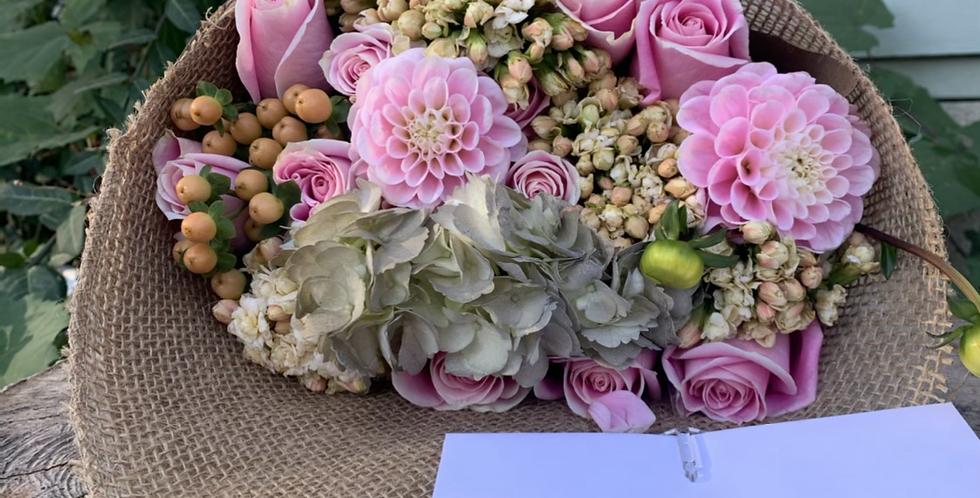 Wrapped fresh-cut flowers