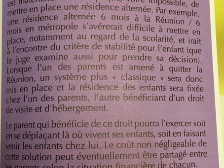 L'éloignement géographique des parents / Article de presse (Magazine Cap Santé Réunion N°11)