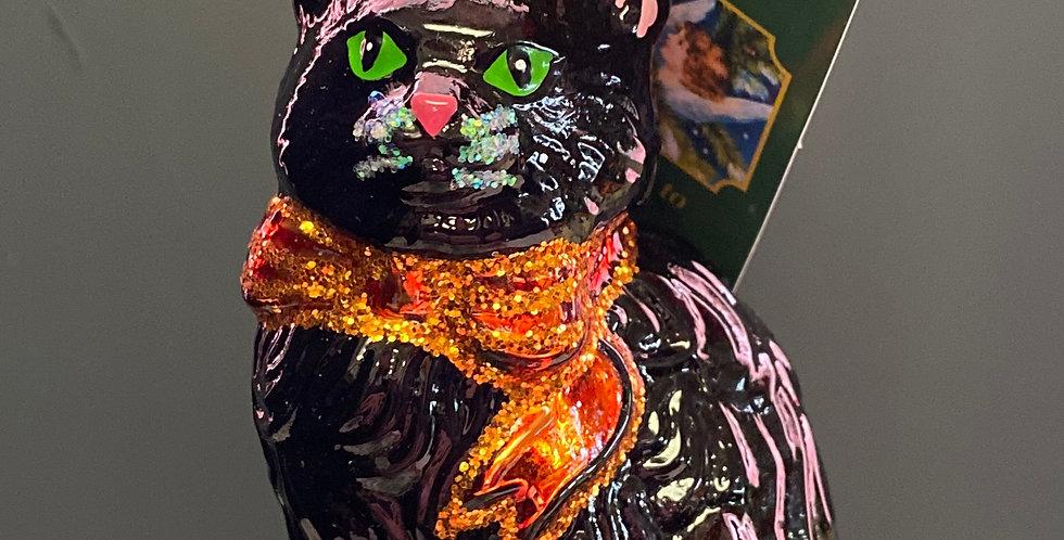 Old World Christmas Halloween Kitty