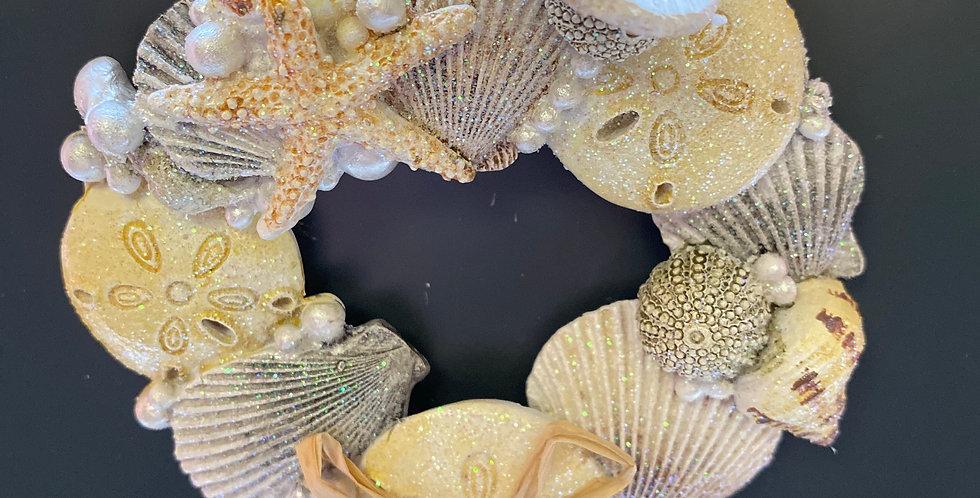Cape Shore shell wreath ornament