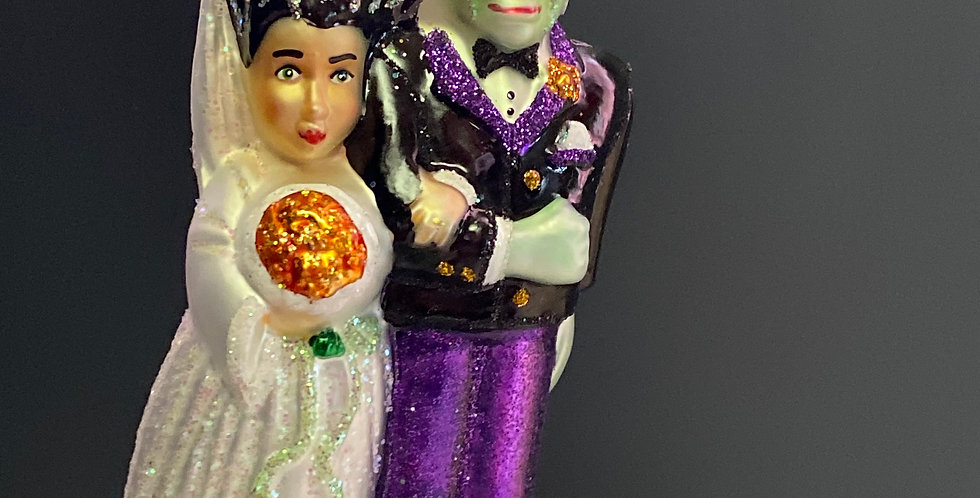 Old World Christmas Frankenstein and Bride