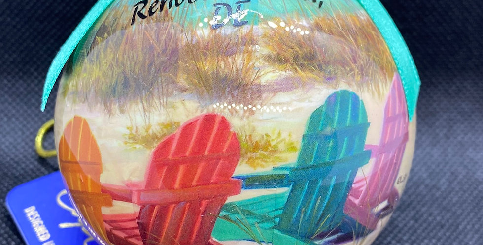 Cape shore beach chair ball with Rehoboth Beach